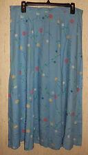 NWOT  WOMENS Southern Lady BLUE W/ FLORAL PRINT SKIRT  SIZE XL