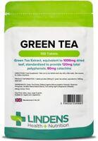 Green Tea 1000mg 100 Tablets Candida, Cardiovascular, Detoxification Lindens UK