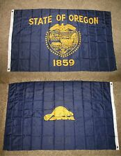 3x5 State of Oregon 2 Faced 2-ply Wind Resistant Flag 3x5ft