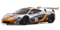 Kyosho Mini-Z McLaren P1 GTR Autoscale Body Set - Silver/Orange - MZP235SO-B