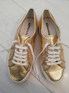 Gold Superga UK 7