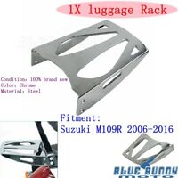 Chrome Motorcycle Rear Seat Luggage Rack Carrier Holder  For Suzuki M109R 06-16