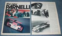 """1973 Mario Andretti's Viceroy Indy Car Vintage Info Article """"The New Parnelli"""""""