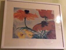 """Emil Nolde Aquarell-Gemälde """"Roter und gelber Mohn"""", Original mit Signatur"""