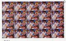 GABRIELA SABATINI 20-Stamp Sheet (WIMBLEDON TENNIS Championships Player)