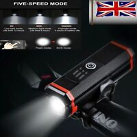 Wireless Bicycle Headlight USB Rechargeable Light Bike Front Light Waterproof