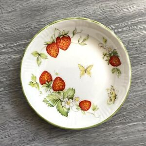 Vintage Queen's Rosina China Virginia Strawberry Pin Trinket Dish Plate