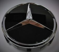 Genuine Mercedes-Benz Alloy Wheel Centre AMG Hub Caps x 4  Chrome/Black  70200