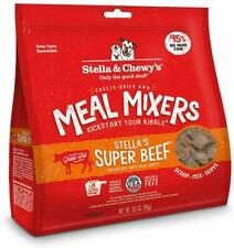 (3 Pack) Stella and Chewy's Freeze-Dried Raw Beef Meal Mixers for Dogs 3.5 ounce