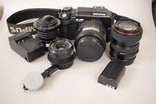 Olympus E-300 E-VOLT 8MP SLR Camera W/2 Lenses + Extras. GREAT STARTER KIT