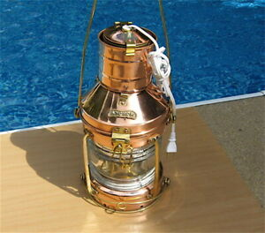Maritime Copper Anchor Light - Electric or Oil