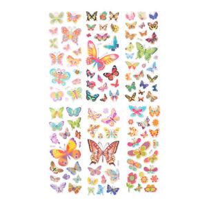 6 Sheets Lovely Butterfly Scrapbooking Bubble Puffy Stickers Reward Kids WRA_wf
