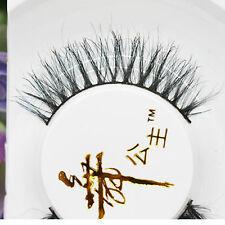 Elegant Soft Long Thick Makeup Eye 100% Black horsehair Lashes False Eyelashes