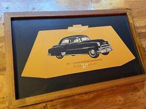 1951 Chevrolet Dealership Cardboard Sign Framed