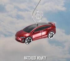 2017 Tesla Model X Electric SUV Crossover Car Christmas Ornament 1/64 Elon Musk