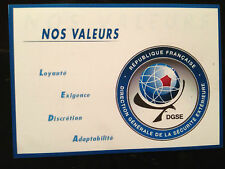 DGSE ( French Secret Police  Agency) HIGH QUALITY MAGNETIC SIGN + FREE STICKER