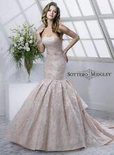 Maggie Sottero Mason size 10 Ivory Blush Wedding Dress