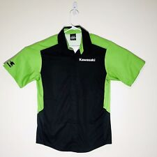 Kawasaki Motorcycles 2-Tone Hot Shoppe Designs Usa Snap Button Front Shirt M
