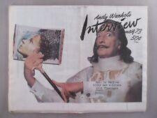 Andy Warhol's Interview Magazine -  May, 1973 ~~ Salvador Dali