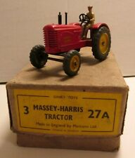 Dinky Toys,  27A Massey - Harris Tractor, in trade box,    original