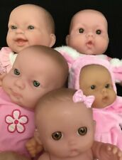 Berenguer Baby Dolls Lot of 5 Vinyl Body Chubby Faced Babies