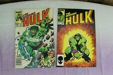 Vintage Lot of 2 Marvel Comic Books The Incredible Hulk 1983, 85 Super Hero