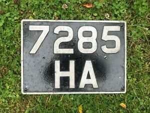 Old Registration number plate 7285 HA .................   off my 1959 Land Rover