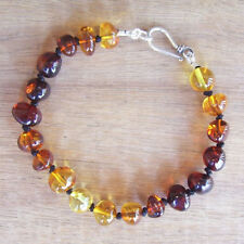 EXCLUSIVE GENUINE ADULT BALTIC AMBER BRACELET RAINBOW Jewellery Beads FREE POST