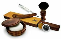 Vintage Style Men's Shaving/Grooming Set of 6 Made From Pure Rose Wood.