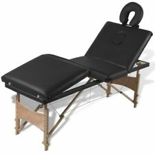 4 Zones Folding Wooden Massage Table Heavy Duty Wooden Frame Adjustable Height
