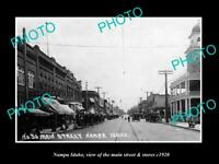 OLD POSTCARD SIZE PHOTO NAMPA IDAHO THE MAINS TREET & STORES c1920