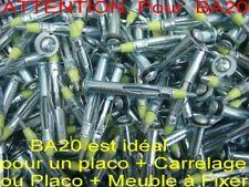 1000 Chevilles MOLLY,,,Filetage Ø 3 mm, Long 46 mm,placoplatre,placo (pour BA20)