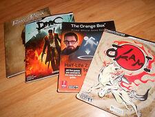 4 Okami + Orange Box + DMC + Prince of Persia Collector Strategy Guide LOT + ART
