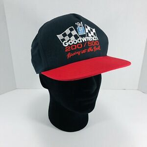 Vintage 1994 Goodwrench 200-500 Racing at the Rock Snapback Trucker Hat Ball Cap