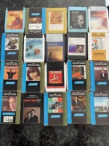 Lot of 20 vintage 8-track cassettes
