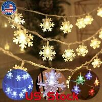 Christmas Light String Fairy Lights Indoor Outdoor Hanging Snowflakes Decoration