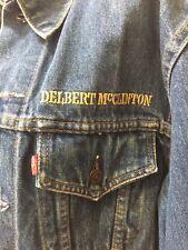 Vintage Delbert McClinton Levis Jean Tour Jacket Miller Beer Music Tour 80s