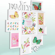 Large White Bird Leaf Wall Hanging Family Photo Frame Multi Picture Holder
