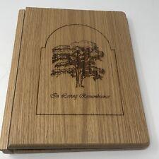 *+ 10� Wood Cut Remembrance Book Ring Binder Memory Funeral guestbook memorial