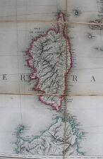 DUMAINE : ITALIE CORSE SARDAIGNE Carte Routière entoilée ca 1860 en 24 feuillets
