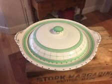 Vintage British Anchor Cottage Green – Lidded Vegetable Dish / Tureen – Great!
