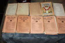 LOT OF 19 VINTAGE ALANTIC HARPERS CENTURY MAGAZINES,  1895-1890*1894-ECT LOOK