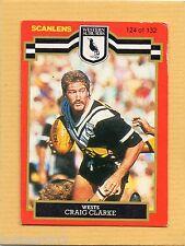 1986 SCANLENS RUGBY LEAGUE #124-CRAIG CLARKE