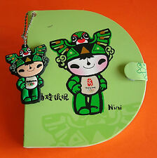 Official Beijing 2008 Lucky Mascot Doll NINI KEY TAG and NOTEBOOK New and Unused