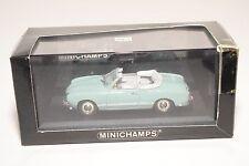 . MINICHAMPS VW VOLKSWAGEN KARMANN GHIA CABRIOLET 1957 PACIFIC BLUE MINT BOXED