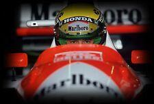Ayrton Senna 30x20 Inch Canvas - 'Stare' F1 Farmed Formula One Picture