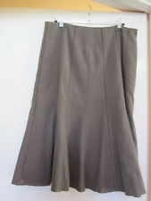 BHS Taupe Brown Lined Long Skirt in Size 12