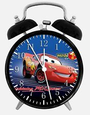 "Disney Cars Mcqueen Alarm Desk Clock 3.75"" Home or Office Decor W101 Nice Gift"