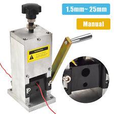 Manual Aluminum Wire Stripping Machine Copper Cable Stripper w/ Drill Connector