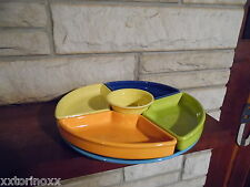 Fiesta 6 pc Relish Entertaining set with turquoise tray new fiestaware Omni tray